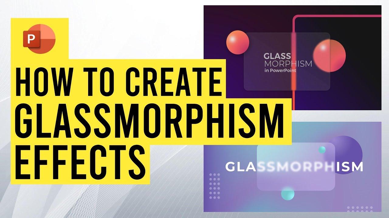 Create Glassmorphism Effect in PowerPoint {Tutorial & free download}