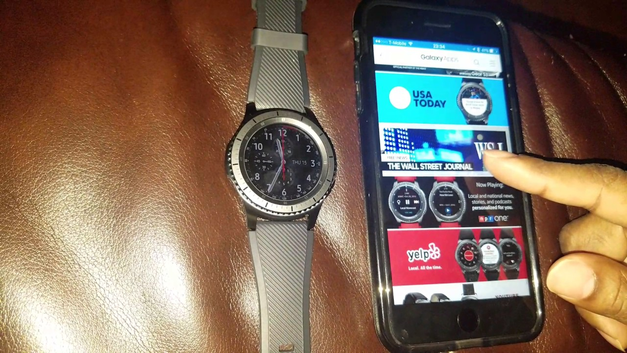timeless design 0032d f9de8 IPHONE 7 PLUS PAIRED WITH THE SAMSUNG GEAR S3 FRONTIER THE APP IS NOW IN  THE APP STORE