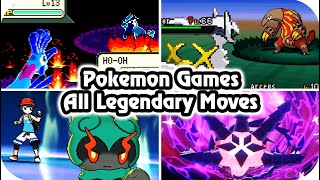 Pokémon Game : Evolution of All Legendary Signature Moves (1996 - 2020)