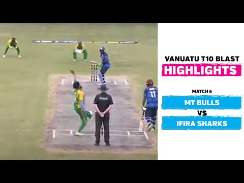 Vanuatu Blast T10 League 2020 | Match 6 | MT Bulls vs Ifira Sharks highlights