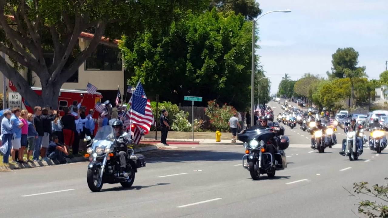 Funeral Procession For Navy SEAL Charles Keating IV YouTube