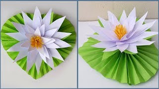 DIY paper Water Lily / How to make Water Lily With Paper