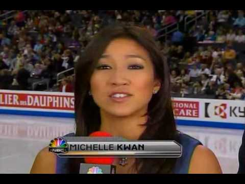 Michelle Kwan and Dick Button at 2009 Worlds Figure Skating Championships