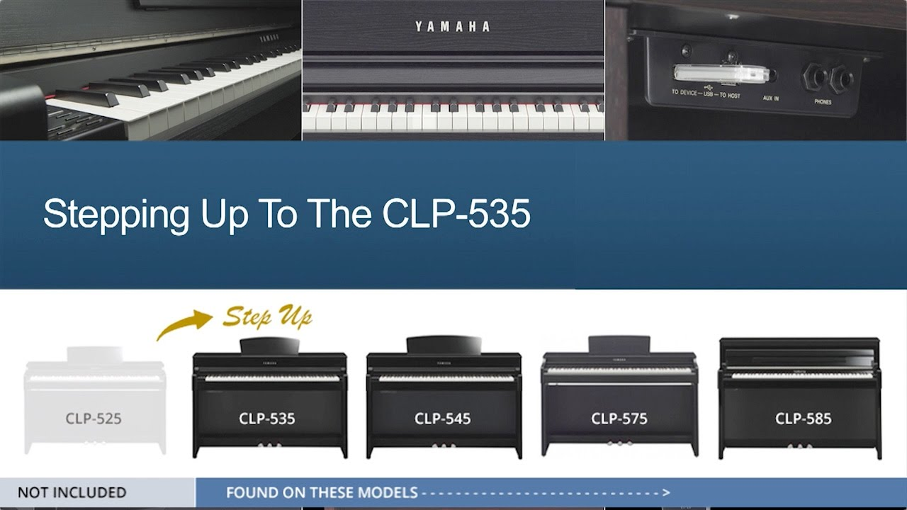 yamaha clp 535 step up guide youtube. Black Bedroom Furniture Sets. Home Design Ideas