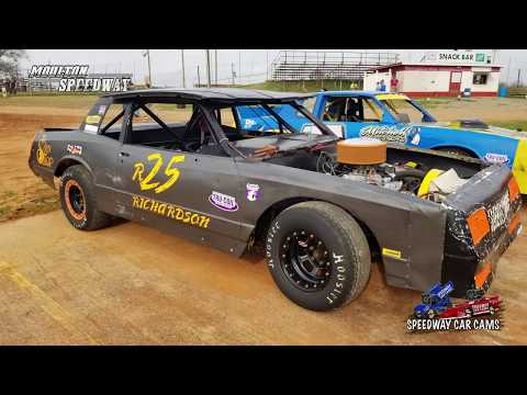 #R25 Dusty Richardson - Pure Street - 3-17-18 Moulton Speedway - In Car Camera