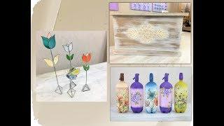 ManosalaObraTv 2018  Programa  74 - Sifones Decorados - Baul Estilo Hindu - Mariposa Tiffany