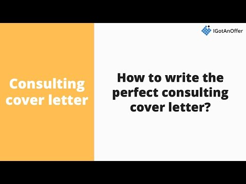 How To Write The Perfect Consulting Cover Letter?