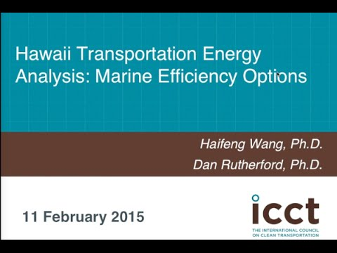 Hawaii Transportation Energy Analysis: Marine Efficiency Options
