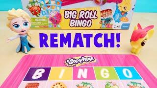 Shopkins Big Roll Bingo Game REMATCH Elsa and Apple Bloom