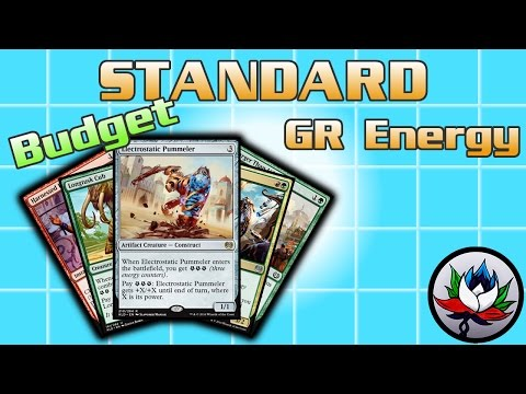 "MTG – The Most Competitive/Successful ""Budget"" Standard Deck Tech for Magic - G/R Energy!"