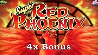 SUPER RED PHOENIX - 4x Bonus - Very Big Win - Retrigger Coin Show - Bally Slot Machine Pokie Pokies