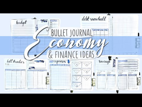 HOW I BUDGET IN MY BUJO | ECONOMY & FINANCE BULLET JOURNAL IDEAS | Plan With Me