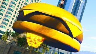 GTA ONLINE Experimente mit einem Zeppelin und der fliegende Burger!