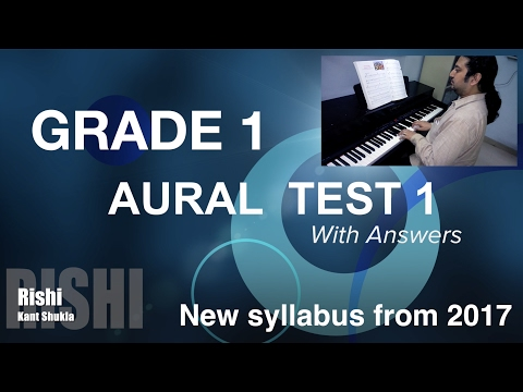Grade 1 - Sample Aural Test 1 with Answers for Trinity Exam (from 2017)