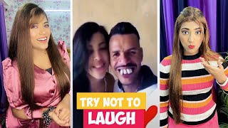 Try Not To *LAUGH* Challenge | *HARD* Indian Memes Ft. Samreen Ali | Mahjabeen Ali