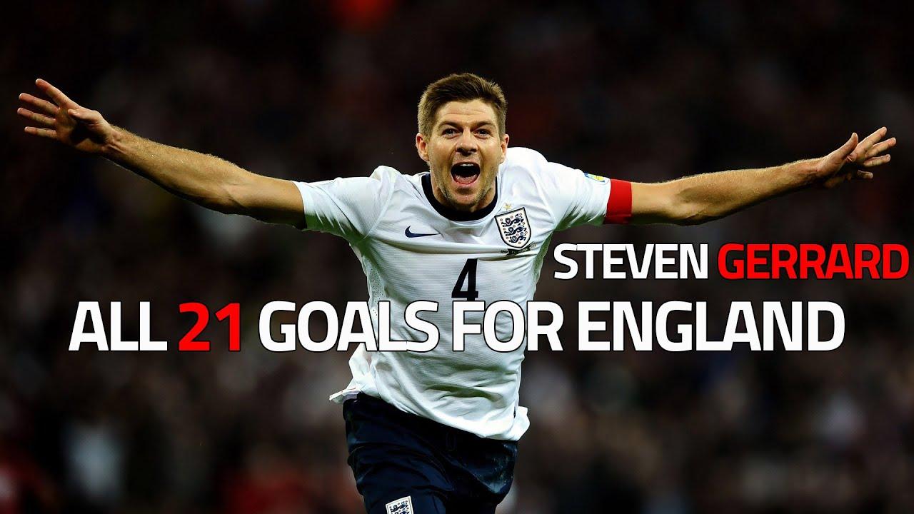 Steven Gerrard ○ All 21 Goals for England HD
