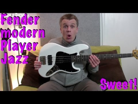 Fender Modern Player Jazz Bass Review - Available in Olympic White, Sunburst & Black Transparent