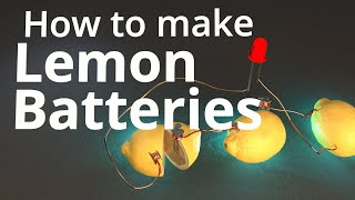 How to Make Lemon Batteries!