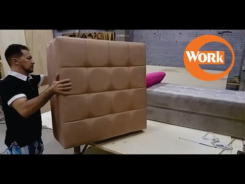 Puffs para sala/How to Build an Upholstered Bench