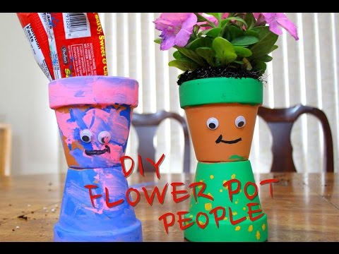 Home Made Flower People - DIY FOR KIDS