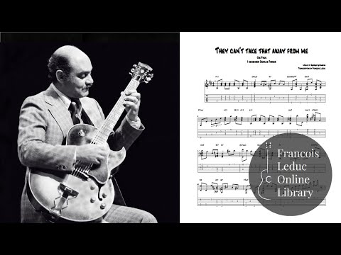 They Can't Take That Away From Me - Joe Pass (Transcription)