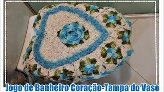 JOGO DE BANHEIRO CORAÇÃO- TAMPA DO VASO/DIANE GONÇALVES