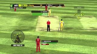HARD DIFFICULTY ASS KICKING -- Ashes Cricket 2009 Gameplay/Commentary Part 3