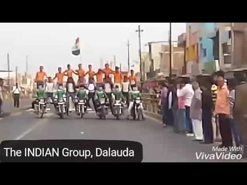 Indian Flag Parade stunt By The Indian Group