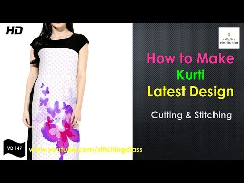 Kurti Neck Design, Latest Neck Design ( Boat Neck Design ) Cutting and Stitching