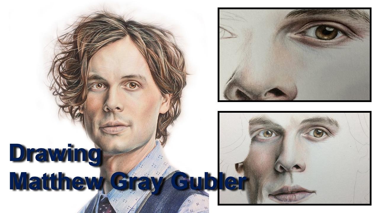 Drawing Matthew Gray Gubler Youtube