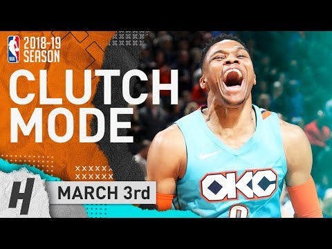 Russell Westbrook CLUTCH Full Highlights Thunder vs Grizzlies 2019.03.03 - 22 Points, 6 Reb!