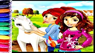 Lego Friends Mia and Olivia Coloring Book Pages Fun Art Speed Coloring Video