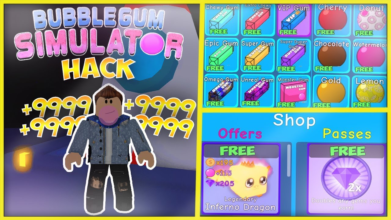 Insane Bubble Gum Simulator Works Unlimited Gems Crates Auto