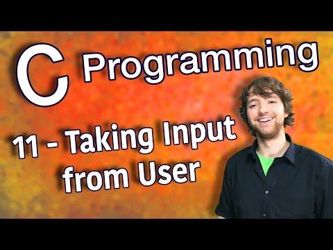 C Programming Tutorial 11 - C Basics Part 3 - Taking Input from User thumbnail