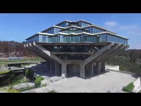 Geisel Library Drone - UCSD - University of California San Diego - San Diego, CA
