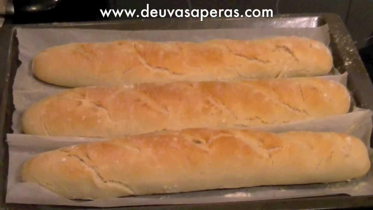 hacer barras de pan en casa