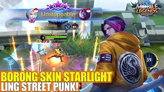 REVIEW SKIN STARLIGHT LING STREET PUNK - JADI SEMANGAT BUAT SAVAGE! MOBILE LEGENDS