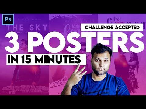 3 Professional Movie Poster Design in 15 minutes - Graphic Design Challenge