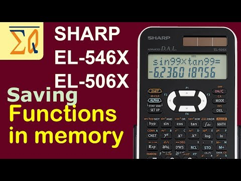 SHARP EL-546X LE-506X EL-531WH storing formula and numbers in memory