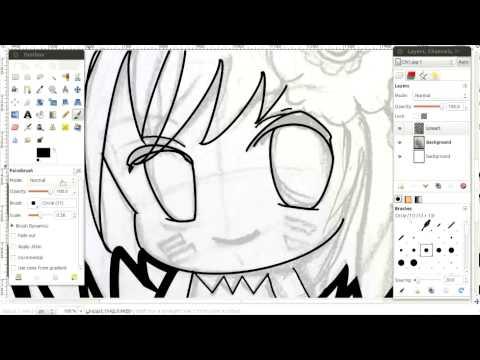 How To Draw Line-Art - Gimp