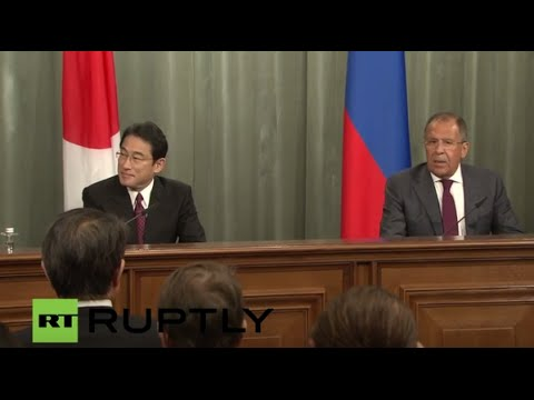 LIVE: Lavrov and Japanese FM Kishida hold joint press conference