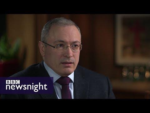 Is Putin a puppet? Interview with Mikhail Khodorkovsky - BBC Newsnight