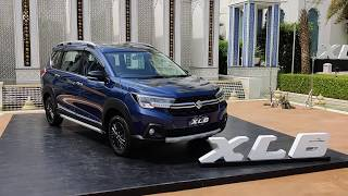 Maruti XL6 with official accessories showcased