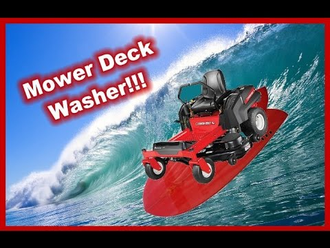 How To Wash Under Your Lawn Mower Deck