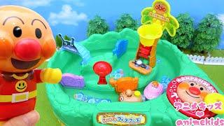 アンパンマン おもちゃ アニメ みんなでプールにいこう! ながれるプール アニメキッズ