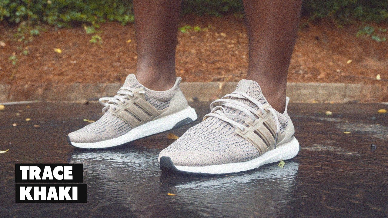 9df12973e13ea adidas Ultra Boost 3.0 Trace Khaki On Foot - YouTube
