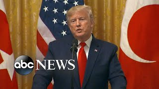 President Trump didn't watch impeachment hearings, denies new testimony l ABC News
