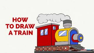 How to Draw a Train in a Few Easy Steps: Drawing Tutorial for Kids and Beginners