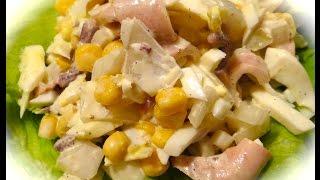 Салат из Кальмаров/Squid Salad(This video is about Squid salad http://youtu.be/EA9qfbrU4mU Это рецепт салата из настоящих кальмаров, этот ролик состоит из 3 частей:..., 2014-11-18T10:26:35.000Z)