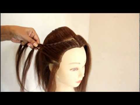 North Indian Bridal Hairstyle by estherkinder - YouTube